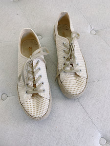 Restricted Lace up Espadrille Sneakers 7.5