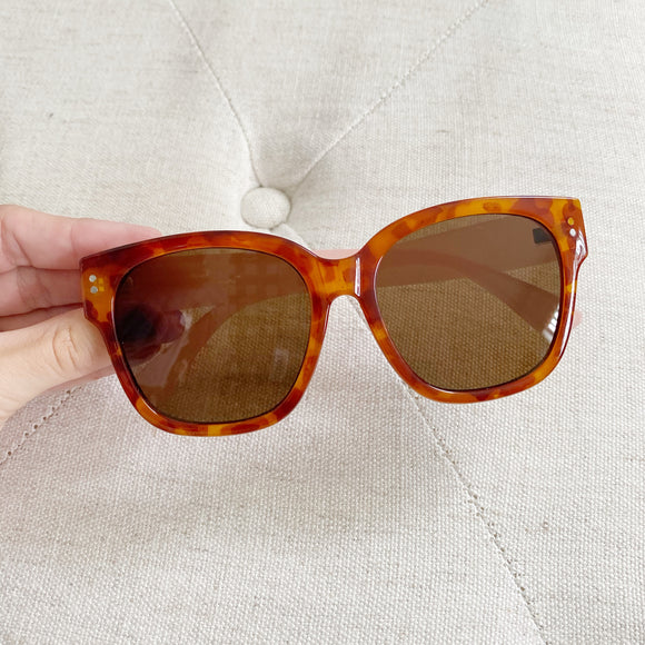 Fashion Tortoise Oversized Sunglasses
