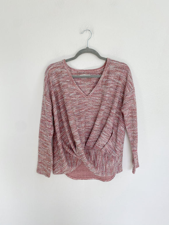Lou & Grey Tweed Knit Sweater Small