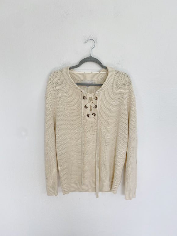 J.O.A. Knit Cream Sweater size Medium