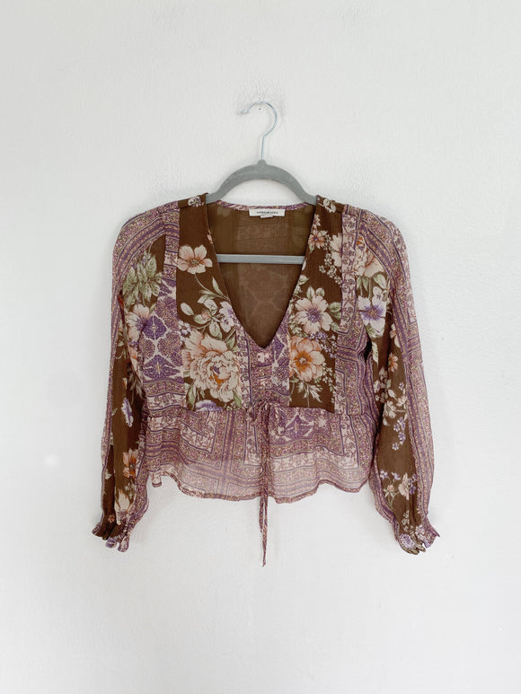American Eagle beautiful Floral Top XS