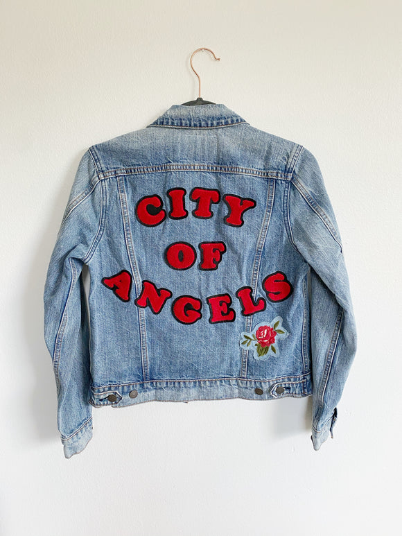 Lucky Brand City Of Angels Denim Jean Jacket New Small