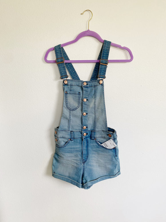 Divided Denim Overall Shorts New Size 6