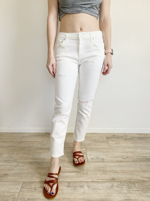 AGOLDE Isabel Mid Rise Slim Straight White Jeans NWT 26