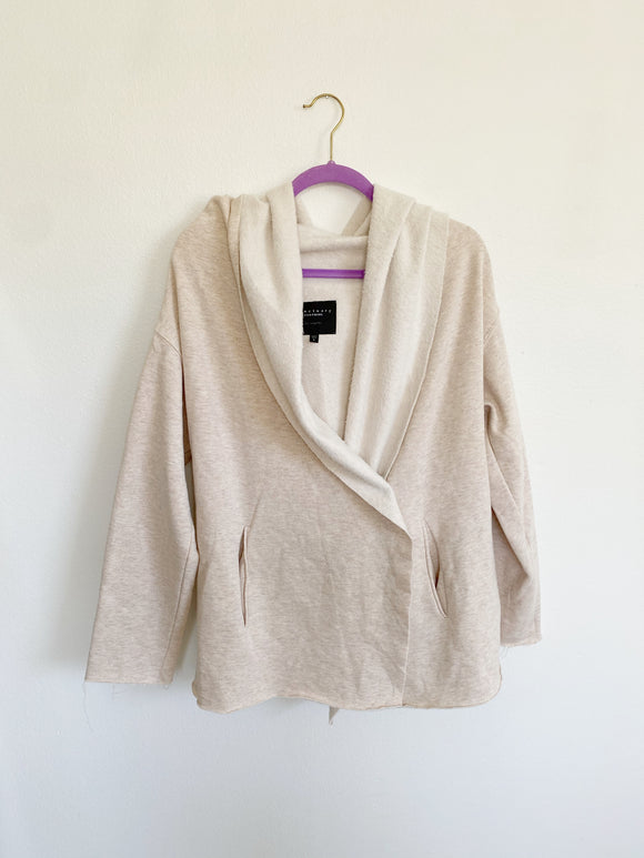 Sanctuary Fleece Hooded Cardigan Large