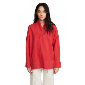 Rachel Comey Denim red Pitch Pullover size 6