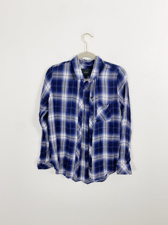 RAILS Plaid Flannel Long Sleeve Top Medium