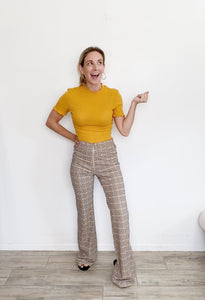 Boutique Flare High-rise Plaid Pants NWT Small