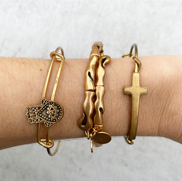 Alex & Ani Gold Wrap Bracelet in Middle