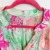 Lilly Pulitzer Elsa Silk Blouse Small