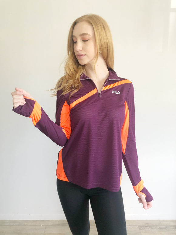 FILA Sport Running Zip Pullover Medium