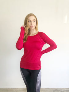 Danskin Fitted Breathe Dri-Now Long Sleeve Top Medium