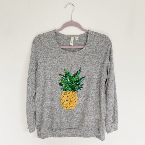 Sequins Pineapple Pullover Small