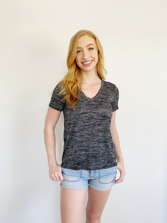 Forever 21 Grey Henley Tee Small