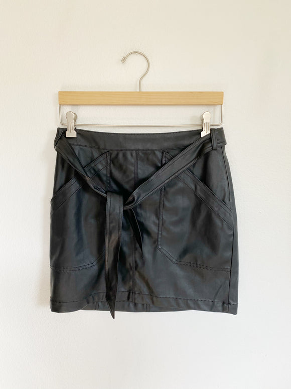 Express Faux Leather Skirt Size 4