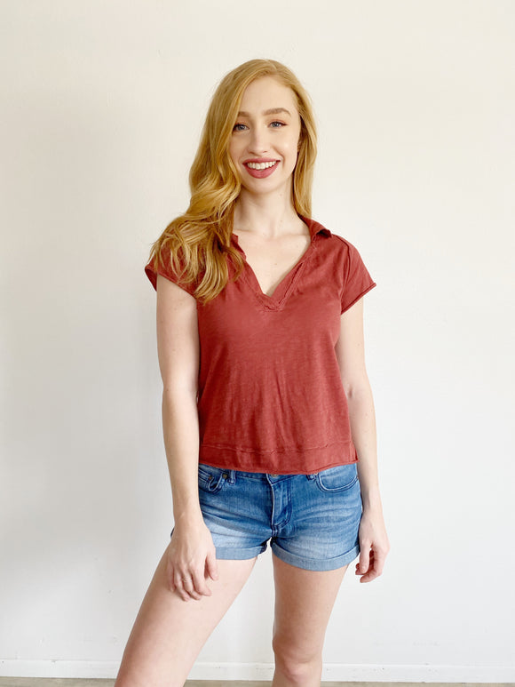 We The Free People Collared Top Small