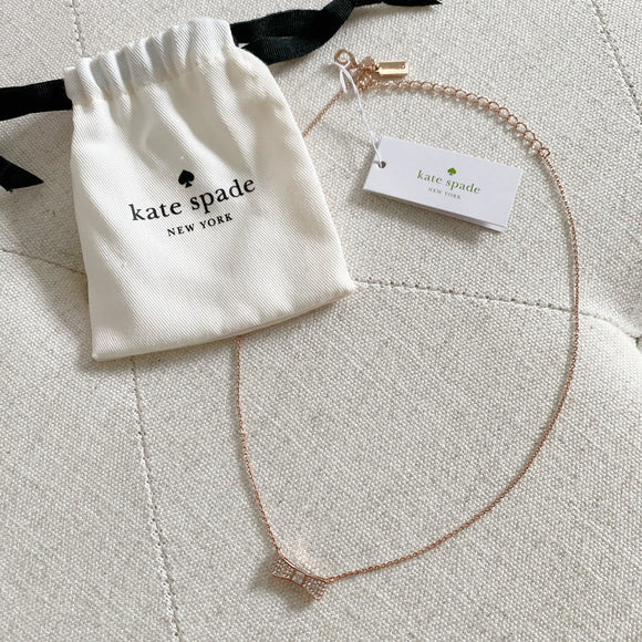 Kate Spade Rose Gold Bow Necklace NWT