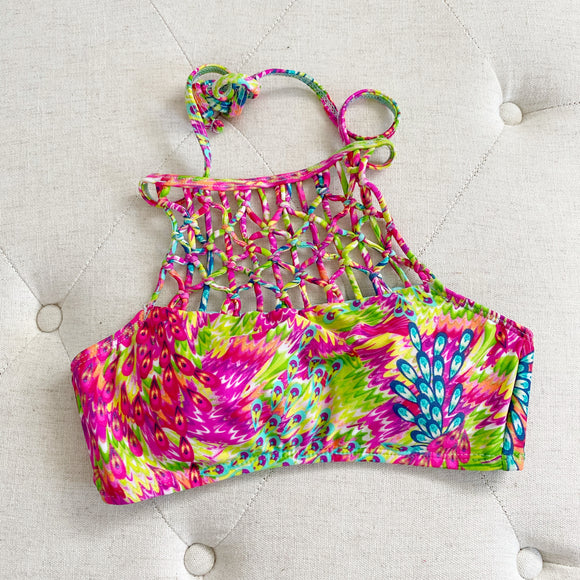 Hobie Braided Swimsuit Bikini Top Small