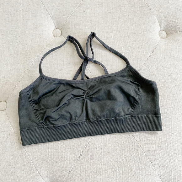 Aerie Grey Spandex Sports Bra Small