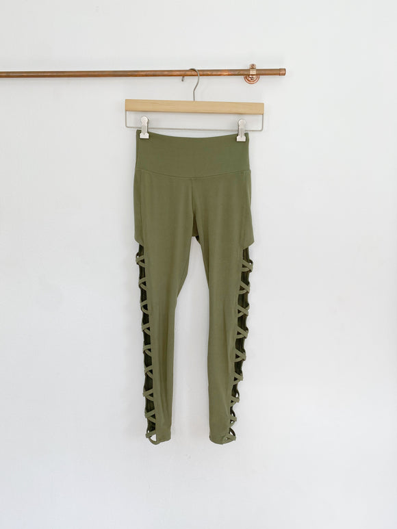 Balance Collection Olive cut-out Leggings XS