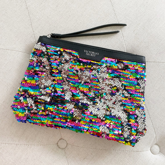 Victoria's Secret sequins Makeup Bag