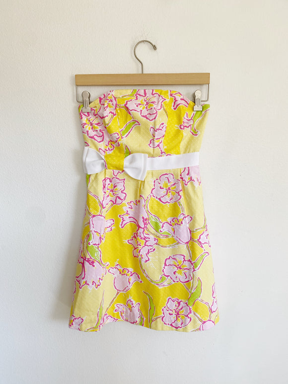 Lilly Pulitzer Amberly Dress in Starfruit Yellow 00