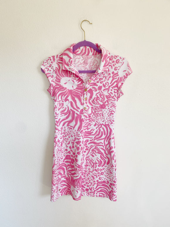 Lilly Pulitzer Rayna Printed Polo Dress XS