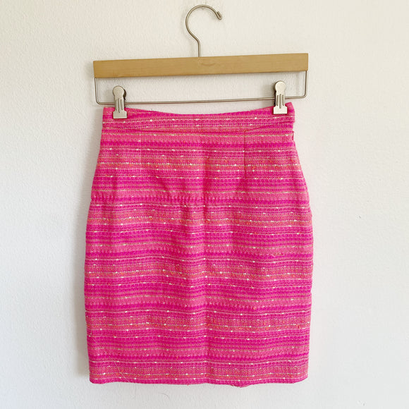 Lilly Pulitzer Gerbera Tweed Penic Skirt 0