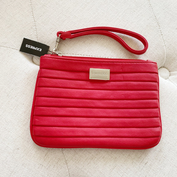Express Leather Red Wristlet NWT