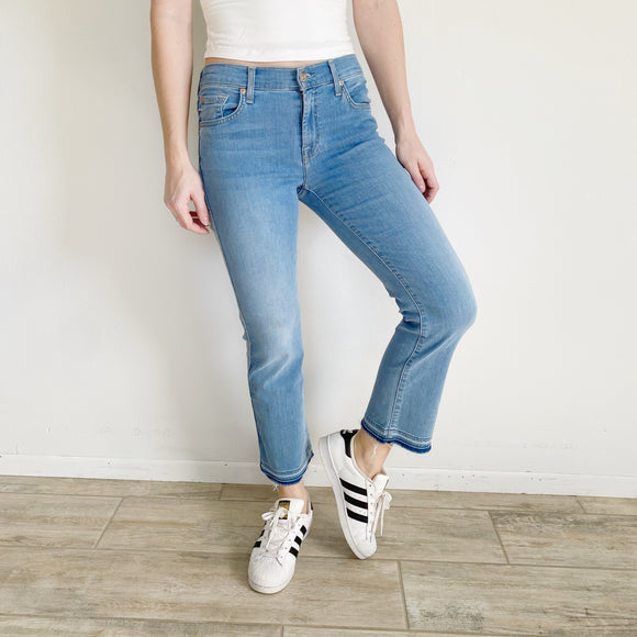 7 For All Mankind B(air) Cropped Ankle Jeans NWT 27