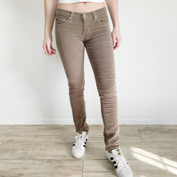 AG Adriana Goldschmied Stevie Straight Corduroy Pants 26