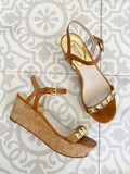 Michael by Michael Kors Stud Wedge Leather Sandal 7