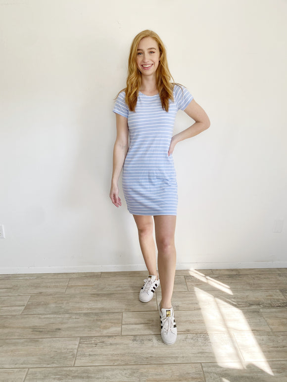 Sail to Sable Short Sleeve Cotton Dress Small