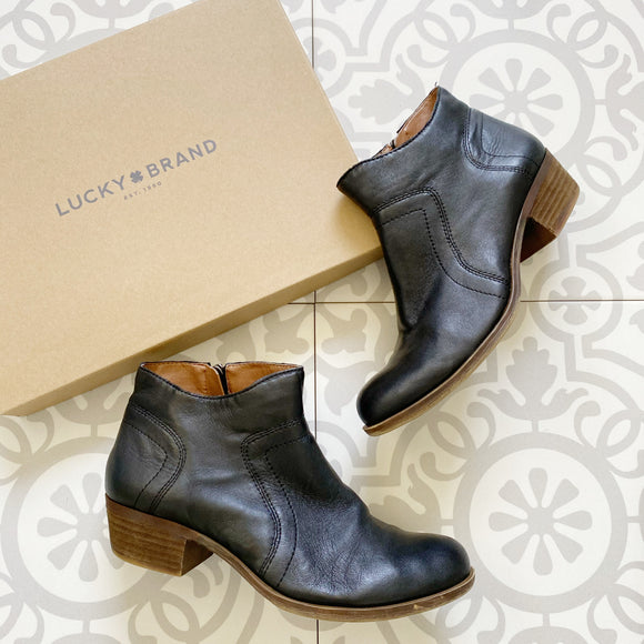 Lucky Brand Brolley Leather Zip Booties 7.5