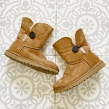 UGG Bailey Button Chestnut Boots 7