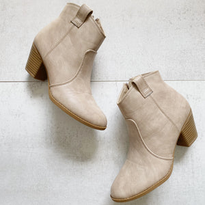 Boutique Western Heel Booties 5.5 New