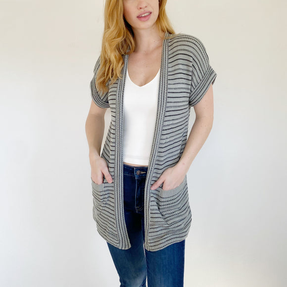 Urban Outfitters Silence + Noise Grey Knit Cardigan Small