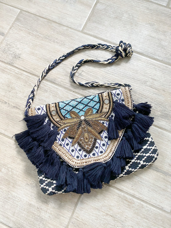 Coachella STEVEN Tassel Festival Beaded Bag