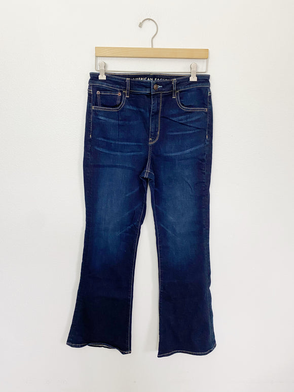 American Eagle High Rise Flare Super Stretch Jeans 10
