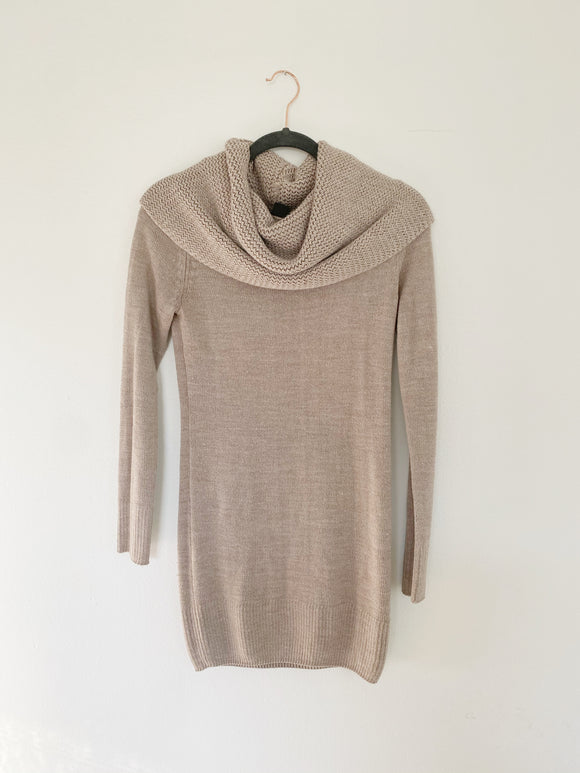 H&M Knit Taupe Sweater Dress Small