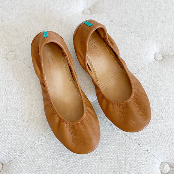 Tieks By Gavrieli Chestnut Brown Ballet Flats 7