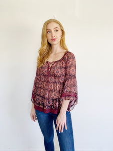 Hollister Boho Lace up Top XS