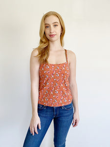 L.A. Hearts by Pacsun Floral Crop Tank Top XS
