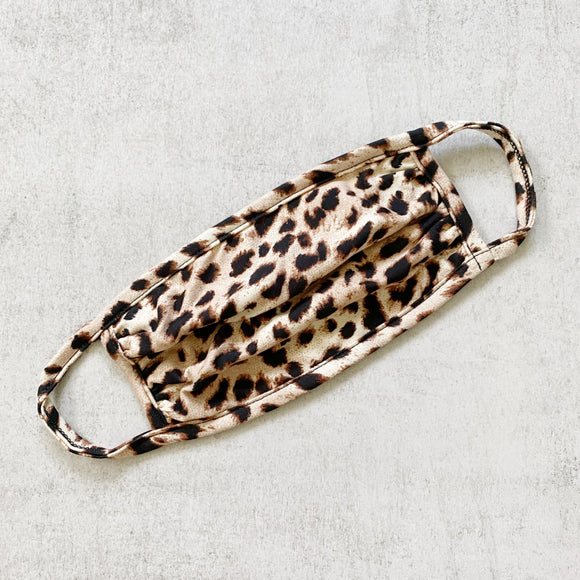 Leopard Print 100% Cotton Washable Face Mask