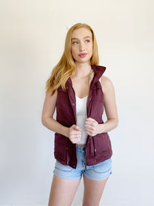 Faux Fur Hooded Vest Size Small
