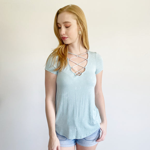 American Eagle Soft & Sexy Lace Up Top XS