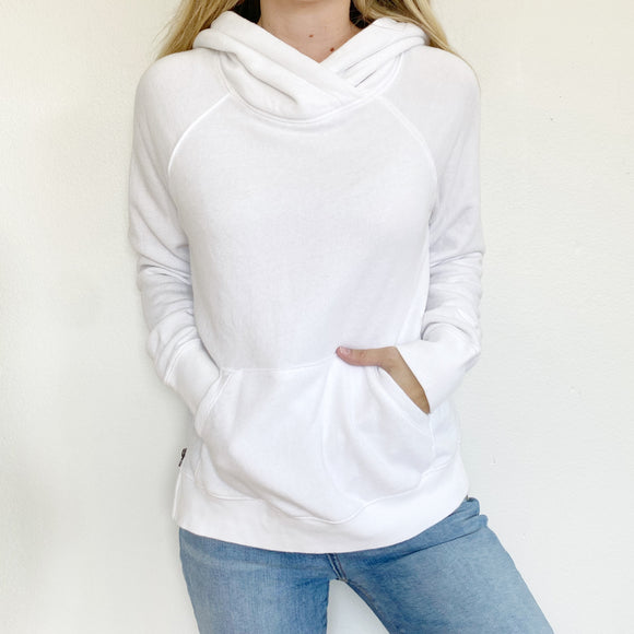 Victoria's Secret White Hoodie Sweatshirt XS