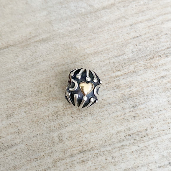 Pandora 14k Gold Filled with Love Silver Charm