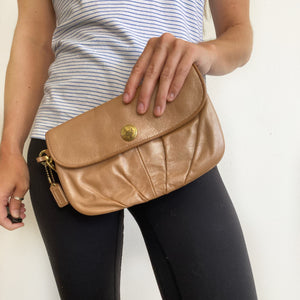 Coach Leather Wristlet Clutch