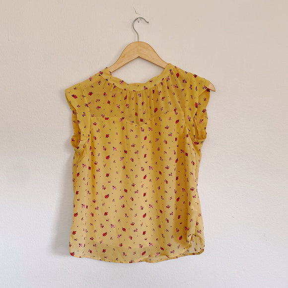 Monteau Floral pale yellow Blouse Medium